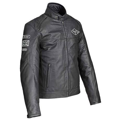 triumph custom black leather jacket   triumph motorcycles