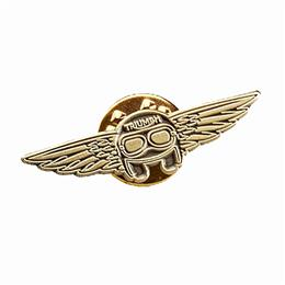 Helmet & Wings Copper Pin Badge