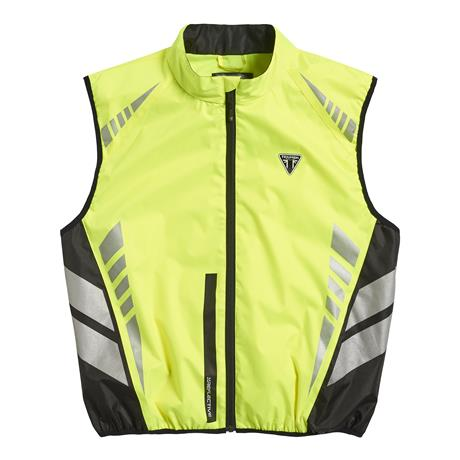 A picture of a new fluorescent yellow vest, front