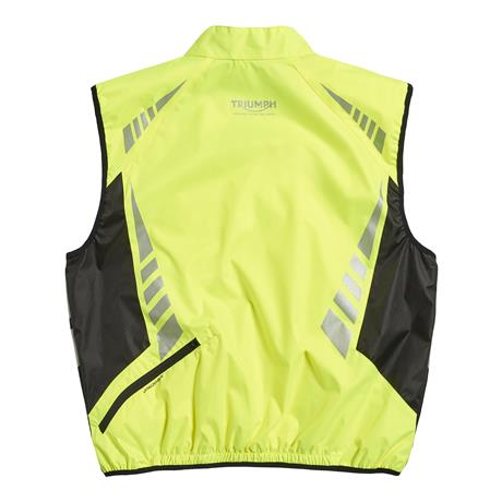 A picture of a new fluorescent yellow vest, back