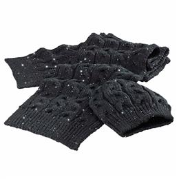 Sequin Scarf & Hat Set for Women