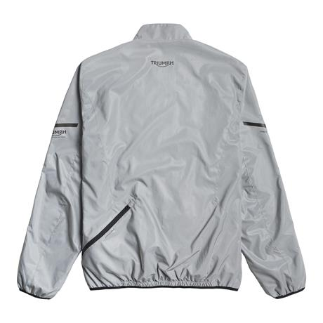 A picture of a new reflective gray jacket, front