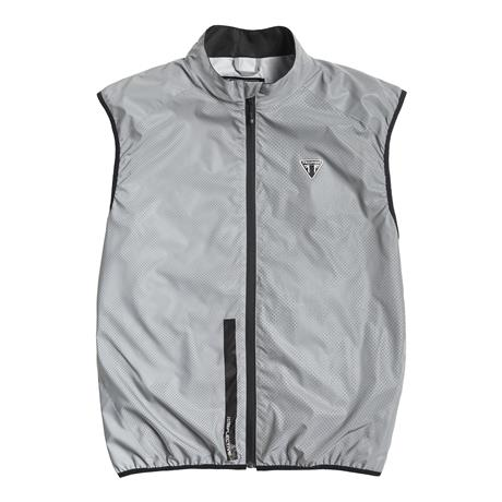 A picture of a new reflective gray vest, front