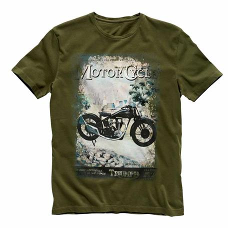 Vintage Motorcycle T Shirt For Men Triumph Motorcycles